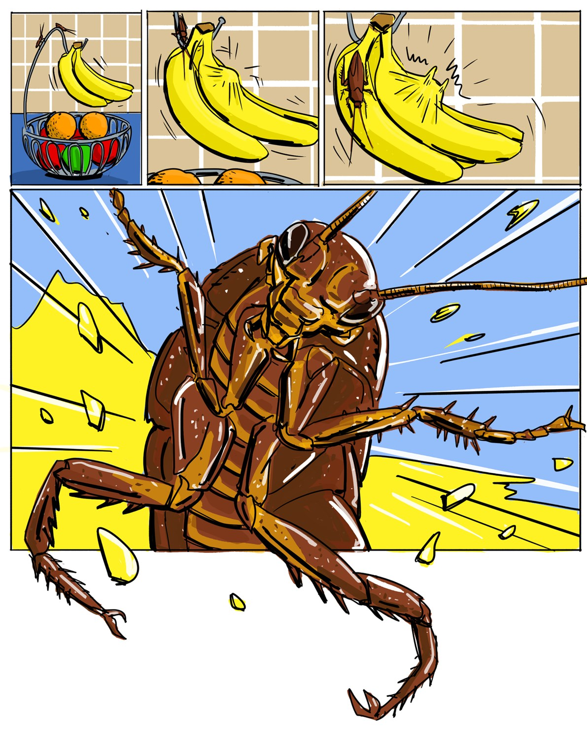 what attracts cockroaches comic