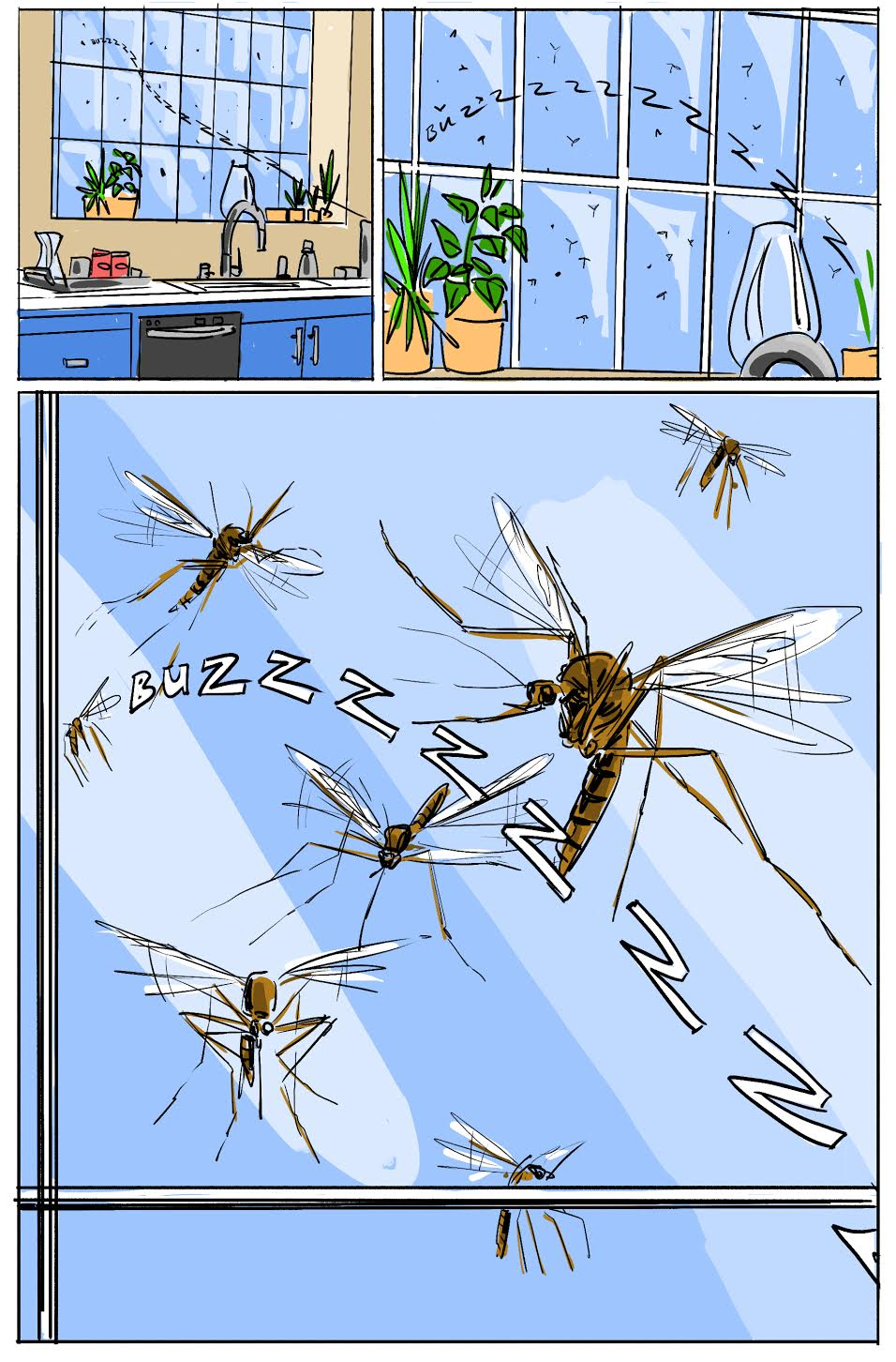 home mosquito control comic